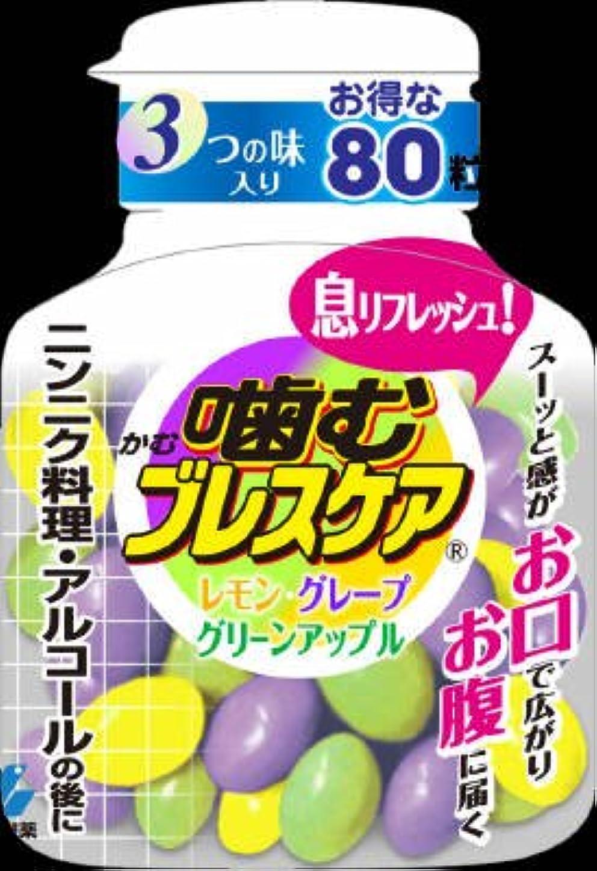 火星ハム一族【徳用サイズ】小林製薬 噛むブレスケア ボトル アソート 80粒 (レモン、グレープ、グリーンアップル味)×48点セット (4987072027103)