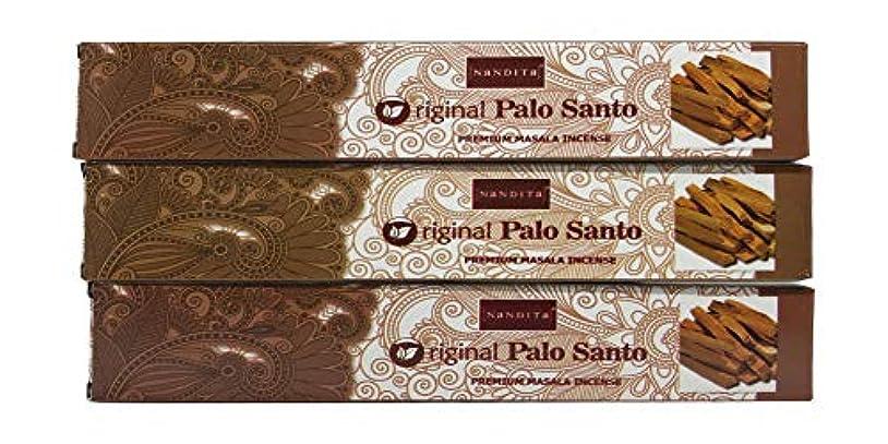 乳白色美人モールNandita オリジナル PALO Santo プレミアム マサラ香スティック 3本パック (各15グラム)