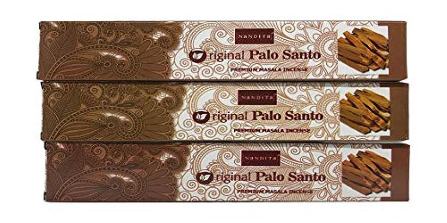瞬時に原始的なピューNandita オリジナル PALO Santo プレミアム マサラ香スティック 3本パック (各15グラム)