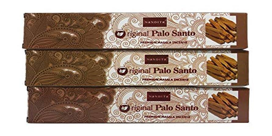 去るインタフェース忠誠Nandita オリジナル PALO Santo プレミアム マサラ香スティック 3本パック (各15グラム)