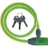 J&C(ジェイアンドシー) ワイヤーロック [JC-020W] φ10mm×600mm グリーン