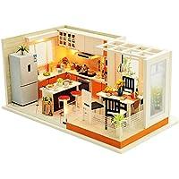 TOOGOOモダンKitchens手作りドールハウス家具ミニチュアDIYドールハウスミニチュアドールハウス木製Toys for Children
