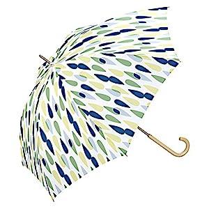 w.p.c (ワールドパーティ) 長傘 手開き 日傘/晴雨兼用傘 レイン 全3色 グリーン 7本骨 58cm UVカット 80% 以上 グラスファイバー骨 木製ハンドル 5548-07GR