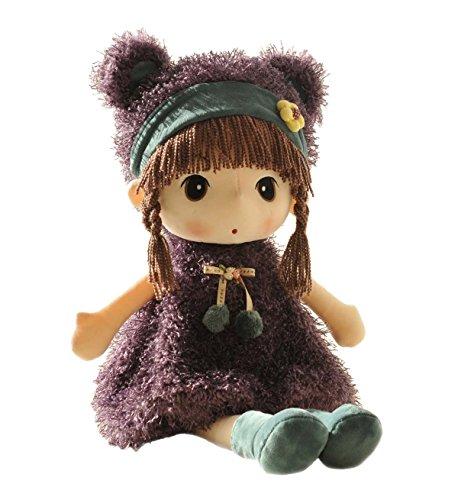 HWD縫いぐるみ、高さが40cm ぬいぐるみ 女の子 赤ちゃん 人形(パープル)...