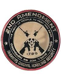 2nd Amendment - アメリカのオリジナルHomeland Security Round 1.25インチ エナメルピン 右から裸腕まで