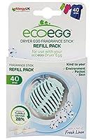 Ecoegg Dryer Eggs Fragrance Stick Refills (40 Dries) - Soft Cotton