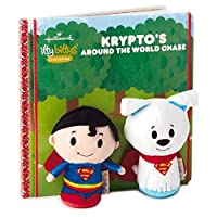 itty bittys SUPERMAN Krypto's Around the World Chase Plush/Book Set Itty Bittys Superheroes [並行輸入品]