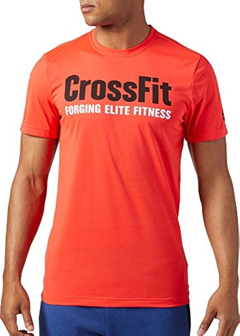 主要なロンドン貨物リーボック トップス シャツ Reebok Men's CrossFit Forging Elite Fitn GlowRed [並行輸入品]