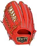 ZETT(ゼット) 野球 硬式 グラブ (グローブ) プロステイタス 外野手 左投用 レッド×ブラック(6419) BPROG77