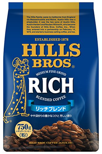 ヒルス コーヒー 豆(粉) リッチブレンド AP 750g