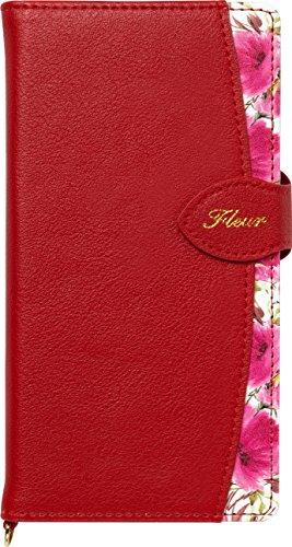 Natural Design FLEUR手帳型 マルチサイズ対応 (マルチタイプ) ワインレッド (カードポケット&ハンドストラップ付)の詳細を見る