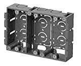 未来工業 パネルボックス 3ヶ用セパレーター付・あと付はさみボックス 1個 SBP-3W