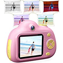 Boys Girls Digital Camera, Leegoal Cute Kids Cameras Mini Compact Cameras for Children 8MP HD Video Camera, Best Gift for 3-10 Year Old Boy Girl, Support Up to 32GB TF Card