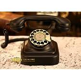 ヨーロッパ風 装飾電話機 アンティーク電話機 デスク クラッシックタイプ 回転ダイヤル式 合金製 黒電話 plm205-dh001