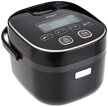 シャープ 炊飯器 3合 黒厚釜 球面炊き ブラック KS-C5K-B