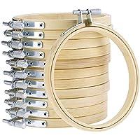 10枚セット竹製刺しゅう枠 (サイズ 内径8cm/3in)