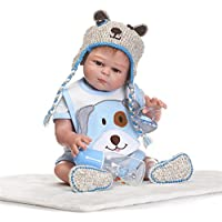 NPK collection Rebornベビー人形リアルな赤ちゃん人形ビニールシリコン赤ちゃん21インチ52 cm新生児ベビーブルーウール人形