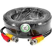 iKKEGOL 5M 10M 15M 50M 20M 30M BNC Video DC Power Extension Cable for CCTV Camera DVR Lead (20M)