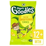 crocs Organixグッズはサルサてきぱきクロックスを4×15グラムをスイートコーン - Organix Goodies Sweetcorn Salsa Snappy Crocs 4 x 15g [並行輸入品]