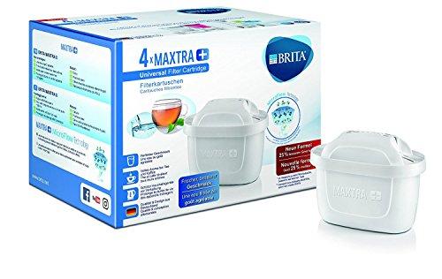 New!! BRITA Maxtra + ブリタ マクストラ プラス 浄水器ポット交換用カートリッジ 4個パック ★おいしさ25%で新登場!!★