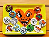 """Keith Haring POP SHOP 1"""" Buttons 13 assort キース・ヘリング 缶バッチ 13個セット"""