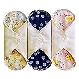 布ナプキン おりもの用 防水なしライナー3枚セット 無漂白ネル もも椿オリジナル (柄ショップおまかせ)