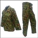 ノーブランド品 PX 5 陸上自衛隊迷彩戦闘服3型麻混(防暑3型) 上下ベルトセット 3A