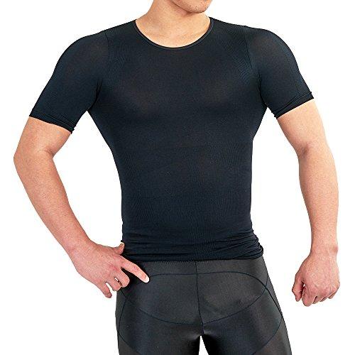 加圧インナー 匠 加圧シャツ 簡単 姿勢矯正 コンプレッションウェア 脂肪燃焼 メンズ ブラック ボディ (M・L共通, 黒)