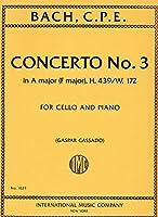 BACH C.P.E. - Concierto en La Mayor para Violoncello y Piano (Cassado)