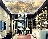 Bzbhart 注文の天井の壁紙、空はアパート、家、オフィスまたは小売スペースの背景の壁の防水壁紙に使用されます-350cmx245cm