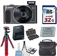 Canon PowerShot sx620HSデジタルカメラ(ブラック)と32GB高速メモリカード+デラックスカメラケース+柔軟なスパイダー三脚+スターターキット& Deluxe Accessory Bundle