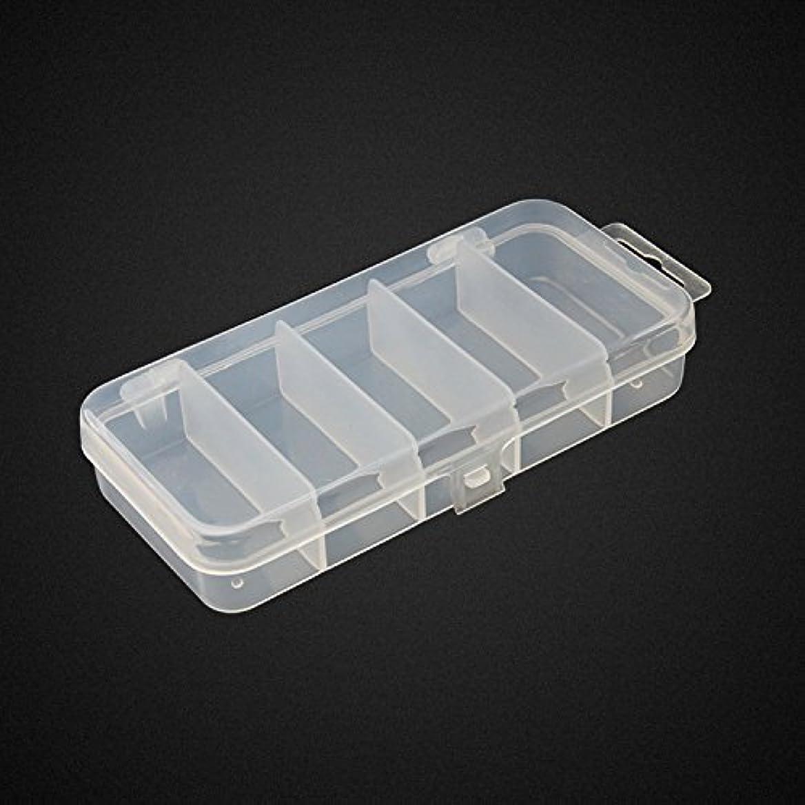 シャーロットブロンテ砲撃一方、Honbay 2PCS 5 Grid Clear Visible Plastic Fishing Tackle Accessory Box Fishing Lure Bait Hooks Storage Box Case Container Jewellery Making Findings Organiser Box Storage Container Case - 13x6x2.5cm