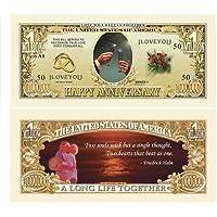 Set of 100-Happy Anniversary One Million Dollar Bill by Novelties Wholesale [並行輸入品]