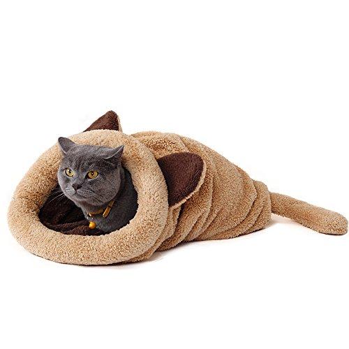 PAWZ Road 猫用 寝袋 ポケット 茶色
