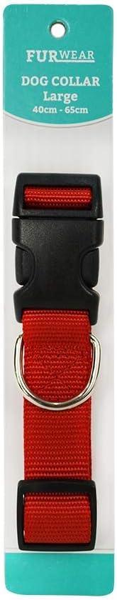 Furwear Padded Dog Collar, 40-65cm, Red