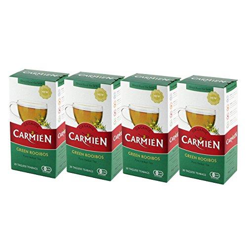 CARMIEN (カーミエン) オーガニック グリーンルイボスティー ティーバッグ 40袋入(100g)×4箱パック
