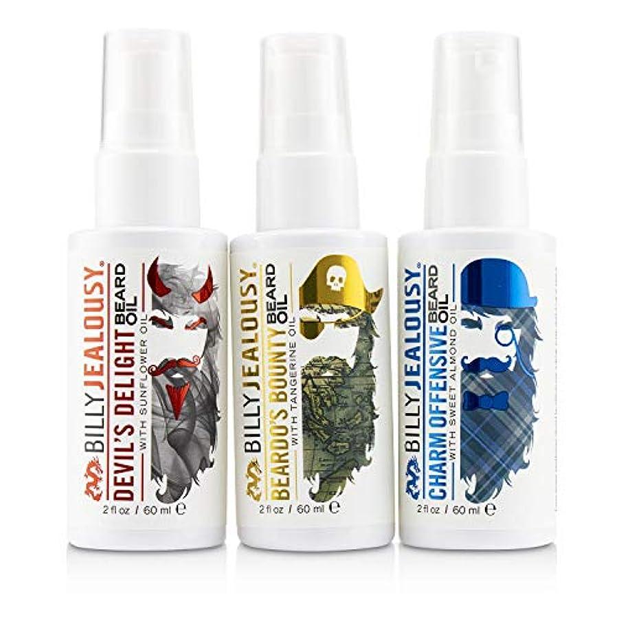 破壊欠陥部族ビリージェラシー 3 Amigos Beard Oil Trio Set : 1x Beardo's Bounty 60ml + 1x Devil's Delight 60ml + Charm Offensive 3pcs...