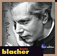 Boris Blacher: Orchestral Variations on a Theme by Paganini by BORIS BLACHER (2005-05-17)