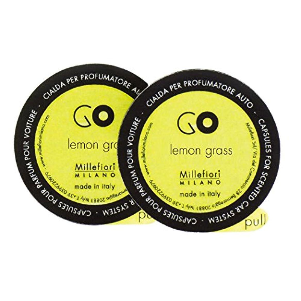 がんばり続ける説得力のある手順Millefiori カーエアフレッシュナーレフィル[GO] レモングラス