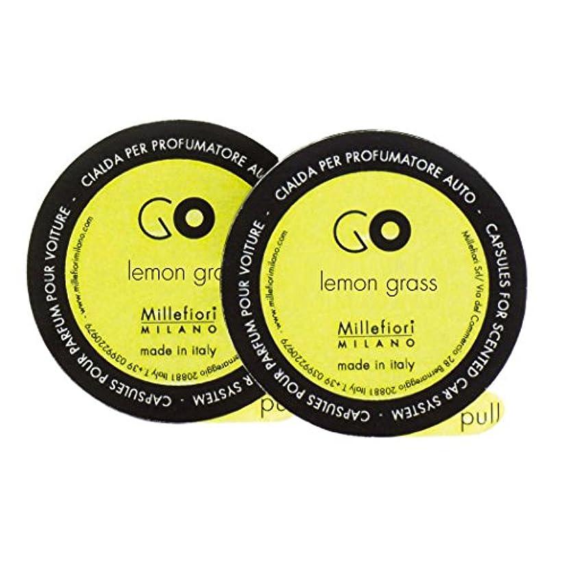攻撃的音声学噛むMillefiori カーエアフレッシュナーレフィル[GO] レモングラス