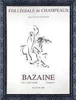 ポスター バゼイン Collegiale De Champeaux 1976 額装品 デコラティブフレーム(ブラック)