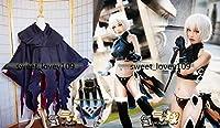 「ノーブランド品」コスプレ衣装+靴下+マント Fate/Grand Order ジャック・ザ・リッパー 武器付+手袋+ウィッグ 全セット