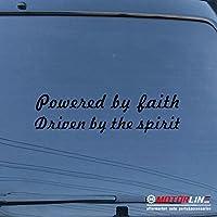 3s MOTORLINE Powered by Faith Driven by the Spiritデカールステッカー車ビニールPickサイズカラー 6'' (15.2cm) ブラック 20180712s14