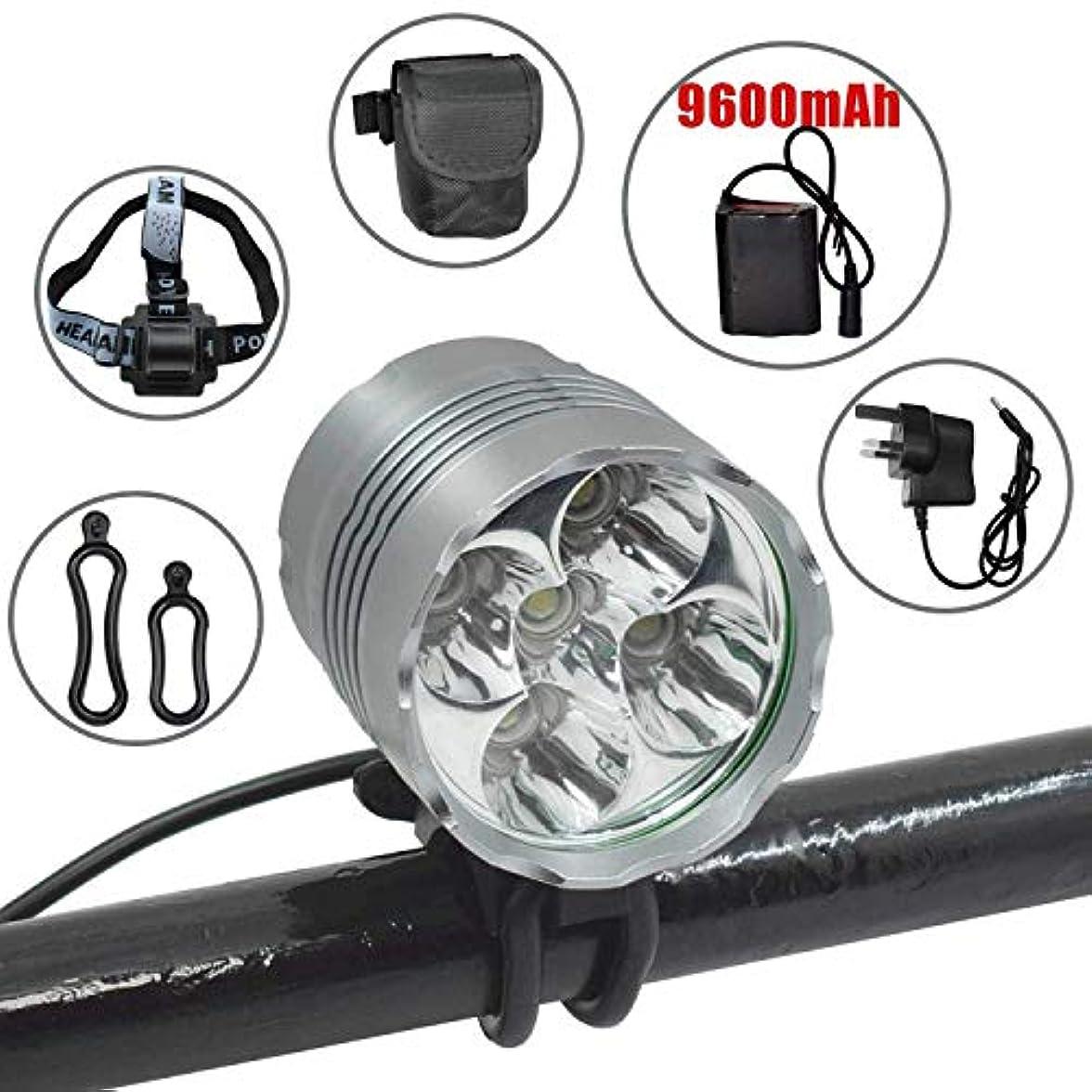 代表して怪しい成功USB充電式LEDフロントライトアルミバイクライト、スーパーブライト5LEDヘッドライトヘッドランプ防水サイクリング自転車ライト、ナイトライディング