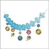 夏祭り装飾 盛夏花火ガーランド L180cm/ディスプレイ 装飾 飾り  7624