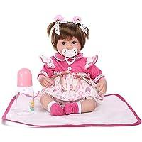 Decdeal リボーン 赤ちゃんの人形 女の子 PP詰め物&シリコーンの体 服/髪付き かわいい ギフト おもちゃ