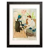 メアリー・カサット Mary Stevenson Cassatt 「The Visit」 額装アート作品