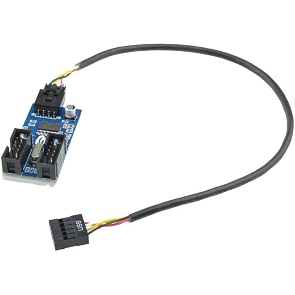 USB 2.0 to USB A Male IDC 5 Male Adapter Cable Used to connect devices designed to plug into USB motherboard header pins to an external USB 2.0 connector Cables Unlimited single row