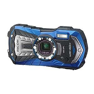 RICOH 防水デジタルカメラ RICOH WG-40W ブルー 防水14m耐ショック1.6m耐寒-10度 RICOH WG-40W BL 04693