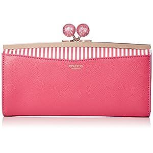 [ビバユー] 大き目ひねりのがま口長財布 キャンディパース 5202421 PN ピンク